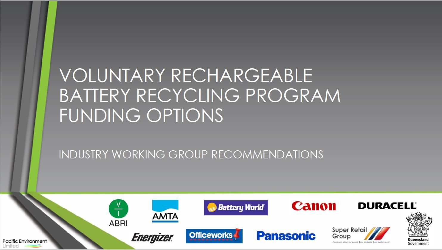 Voluntary Rechargeable Battery Recycling Program Funding Options
