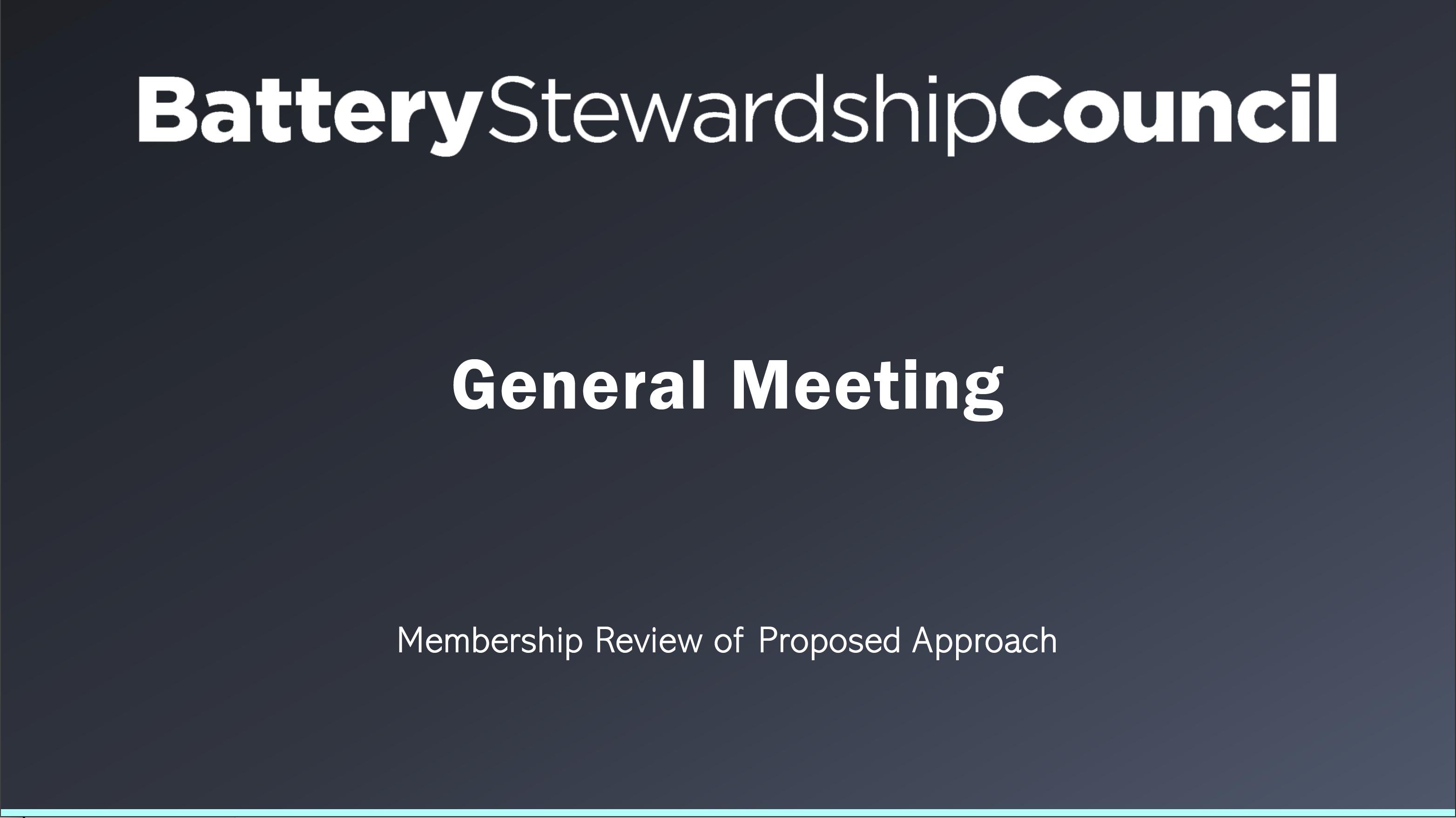 BSC General Meeting