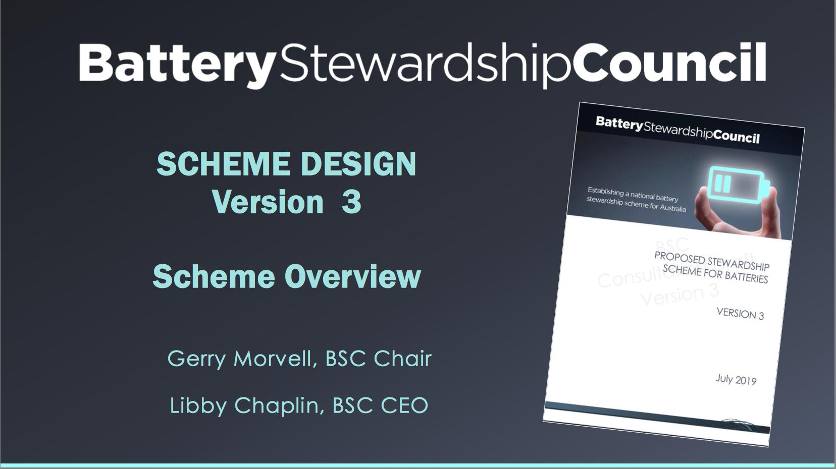 BSC Scheme Overview August