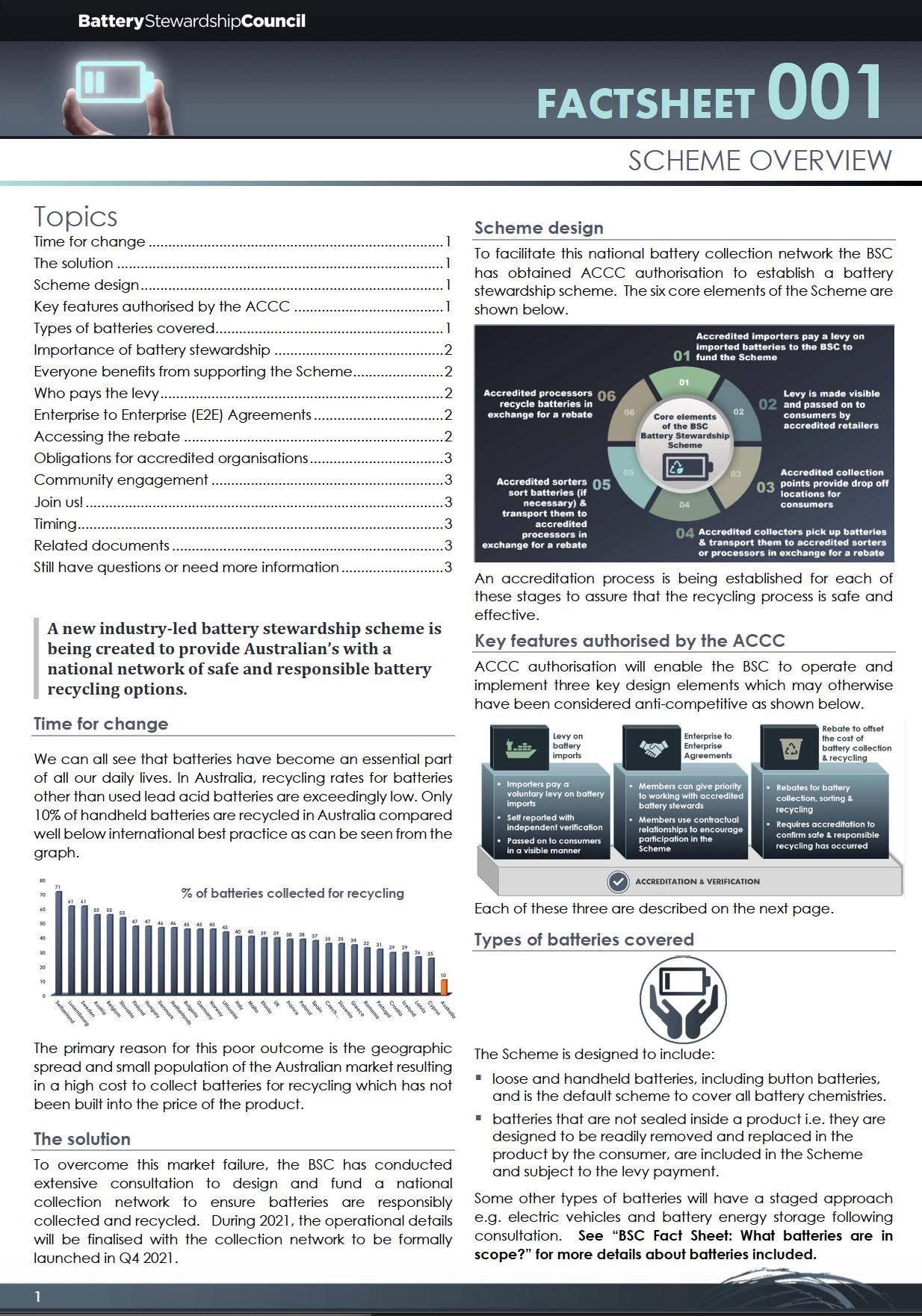 BSC FACTSHEET 001: Scheme Overview
