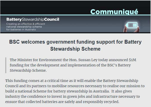 BSC Communique – BSC welcomes government funding