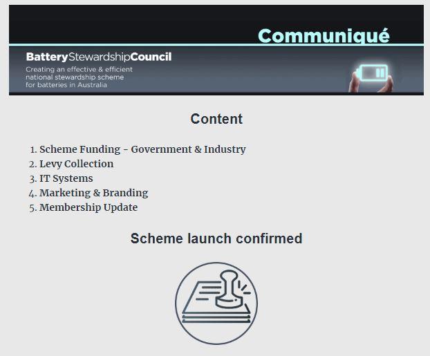 BSC Communique ~ Scheme Update – 30 April 2021