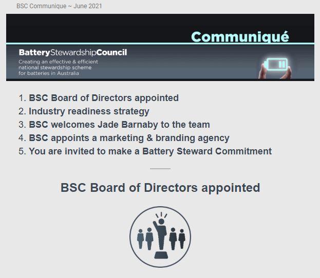 BSC Communique ~ June 2021